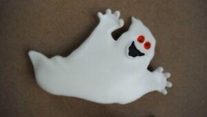 "Halloween Girls' Ghost Hair Barrette, White Plastic 3 1/2"" size - EUC (NWOT?)"
