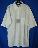 VTG NWT MFO COLLECTION Men's Golf Polo Shirt LIGHTWEIGHT POCKET White Sz XLT