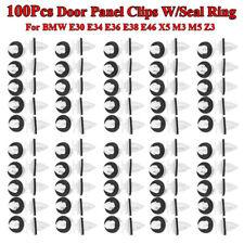 100Pcs Door Trim Panel Clips W/Seal Ring For Bmw E30 E34 E36 E38 E46 X5 M3 M5 Z3