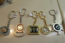 5 Working Alaska Keychains,2 Last Frontier,Ships Wheel,Eagle,Bear Bottle Opener