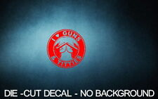 "I Love Guns & Titties 4"" RED Vinyl Sticker Decal Car Truck boobies buy 2+free"