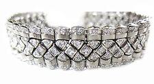 DIAMOND ROUND BRILLIANT SET PRINCESS SHAPE DIAMOND CENTER WIDE DIAMOND BRACELET