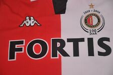 Feyenoord Shirt Football Kappa Jersey Short Sleeve Fortis Home Red White 100 08