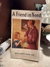 """VINTAGE 1933 """"ARM & HAMMER BAKING SODA-A FRIEND IN NEED"""" 28 PAGES 3.5"""" X 5.5"""""""