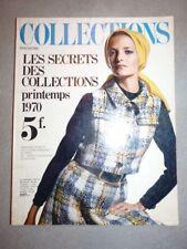 Magazine mode fashion COLLECTIONS MAGAZINE printemps 1970