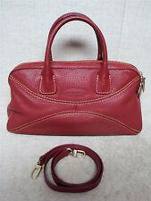 ANTONIO MELANI - Dark Red Maroon Leather - Satchel Handbag Shoulderbag Purse