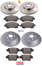 TOYOTA AVENSIS 2.0 D4D T2 (2003-2008) FRONT & REAR BRAKE DISCS & PADS SET NEW