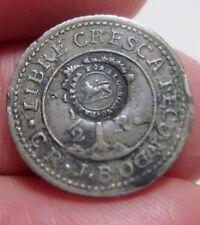 1846 JB (COSTA RICA) SILVER (1/2 REAL) w/ COUNTERMARK (LION) --very scarce---