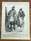 "1915 cartoon print "" peace talk "" kaiser & the sultan of turkey !"