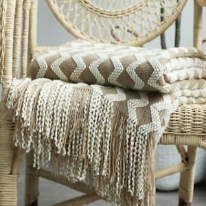 Nordic Knitted Blanket Sofa Bed Decorative Bed Thread Blankets Nap Blankets