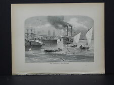 Full Page Engraving, C.1872 S3#32 The Mississippi at New Orleans, Louisiana