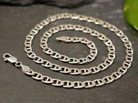 Tolle 925 Silber Kette Gliederkette Unisex Damen Herren Modern Elegant Schlicht