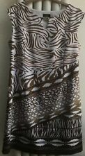 ILE New York Gold/white Dress Size 18 Sleeveless Polyester