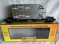 MTH RAILKING COORS LIGHT SILVER BULLET HUSKY STACK LN/BOX FOR LIONEL DOUBLE MAXI