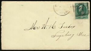 "US 1881 #207 Boston Negative ""7"" Fancy Box Cancel Cover to Fryeburg ME"