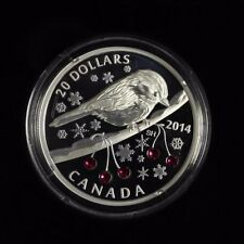2014 $20 Fine silver coin Chickadee and winter berries  CAO 1111/7500