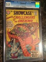 Showcase #12 CGC 3.5 OW/W *4th Challengers of the Unknown*  UNPRESSED OLD CASE!!