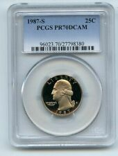 1987 S 25C Washington Quarter Proof PCGS PR70DCAM
