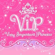 Disney VIP Princess Dessert Beverage Napkins 16 Count Birthday Party Supplies