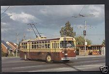American Transport Postcard - TTC TC48 Trolley Coach on Weston Route A9913