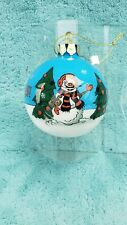 Scottish Christmas Arizona Cardinals 2 3//4 Crystal Snowman Ornament