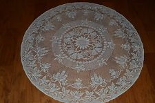 """Heritage Lace Rectangular Polyester White Christmas Tabletopper Round 45"""" (749)"""