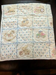 """Homemade Unisex Baby Quilt 44""""x46"""" Country Farm Theme"""