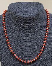 Santo Domingo Red Coral Heishi Bead Necklace -