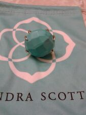 Kendra Scott Turquoise Blue Rana Statement Cocktail Ring 6/7 Rare HTF