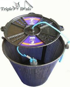 Brand New Extra Large Seahorse Weighted Berley Bucket / Bait Keeper & Rope