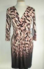 J LO JENNIFER LOPEZ MS SZ PETITE MEDIUM MULTI-COLOR OMBRE ANIMAL PRINT DRESS