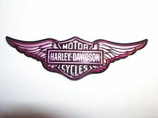 1 Harley Davidson Cycles Wings  PINK Ladies Cake Topper