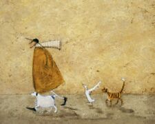 Sam Toft - Ernest, Doris, Horace And Stripes - Ready Framed Canvas