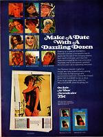 Vintage 1969 Playboy Magazine Calender Print Ad Advertisement