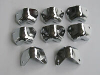 8x Metal Two Hole Guitar AMP Amplifier Corners Speaker Corner Chrome fits Fender
