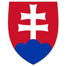 "SLOVAKIA Coat of Arms bumper sticker decal 3"" x 5"""