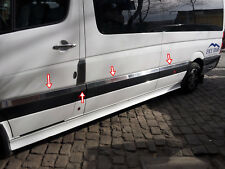 VW CRAFTER 2012-2017 CHROME SİDE DOOR STREAMER 10PCS Short Chassis S.STEEL