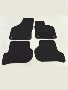VW Golf Mk5 2004-09. Tailored Fit Car Mats Black. Oval Fixing Type