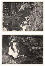 PHOTO ANCIENNE 1950 École Écolier Arrosage Jardin Enfant Classe de Maternelle