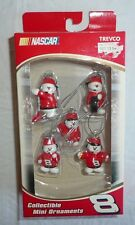 Set of 5 Pit Crew Snowmen Mini Holiday Ornaments 8 Dale Earnhardt Jr NASCAR Xmas