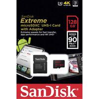 Genuine 128GB Sandisk Extreme Micro SD SDXC Card U3 V30 90mbs For Go Pro Hero 4K