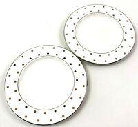 Kate Spade Lenox Salad Plates Set of 2 Larabee Road Platinum NEW with Tags!