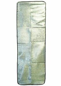 Lightweight Insulated Silver Foil Foam Lined Thermal Camping Camp Mat Liner