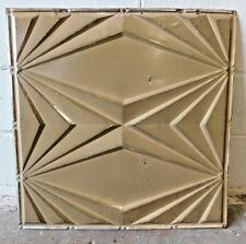 "Antique 24"" x 24"" CEILING TIN Tile VINTAGE Mid-Century Modern Design ORNATE"