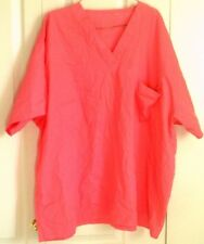 May Hill scrub top ,womens, XXXL, solid pink, reversible