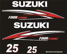 Adesivi motore marino fuoribordo Suzuki 25hp four stroke