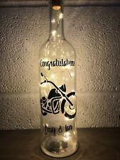 Harley Davidson Light Up Bottle, Gift, Christmas, Personlizes Birthdsy