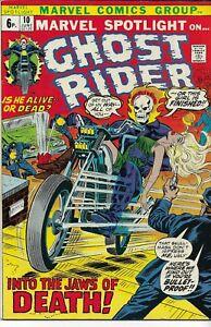 MARVEL SPOTLIGHT ON GHOST RIDER (1972 series) #10 Very Fine+ (8.25) Back Issue