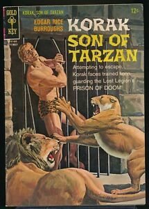 KORAK, SON of TARZAN No. 14 1966 Gold Key Comic Book Painted Cover 5.0 VG/FN