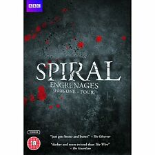 new SPIRAL French TV SERIES 1 + 2 + 3 + 4  Engrenages REGION 2 CULT complete